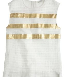 J CREW collection pleated metallic top shirt 2